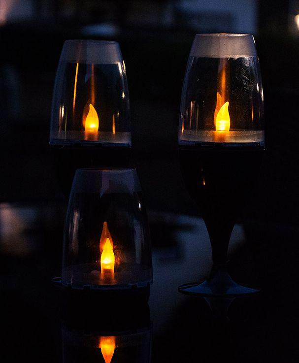 LED Solar Stand Lamp Garden Table Lighting Garden Path Fire Effect Plug Lamp  Globo 33864-24 – Bild 6