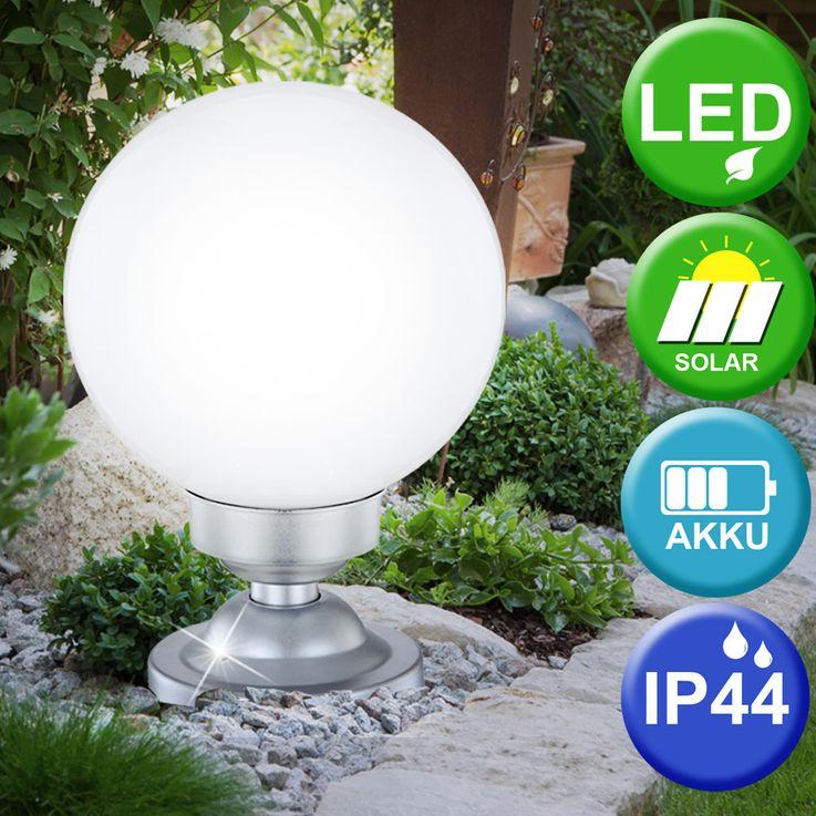 LED Solar Leuchte Außen Beleuchtung Lampe Stand Steh Wand Kugel Strahler Licht Globo 33794 – Bild 2