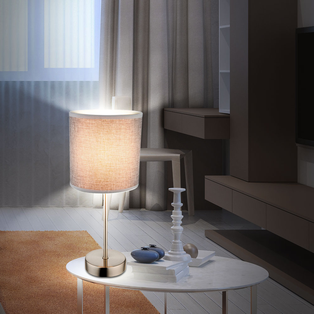 High quality table lamp with textile lampshade paco lamps high quality table lamp with textile lampshade paco bild 4 aloadofball Choice Image