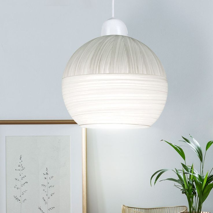 Hanging lamp, glass ball striped, D 20 cm, HENDRIJKE – Bild 2