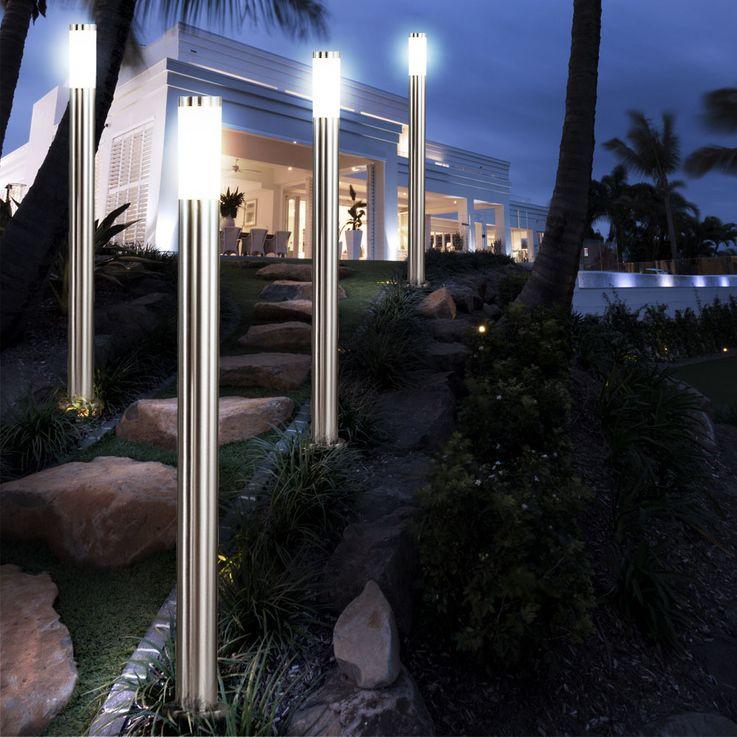 LED Stand Lampe Garten Weg Beleuchtung Terrassen Edelstahl Außen Leuchte Veranda Globo 3159LED – Bild 5