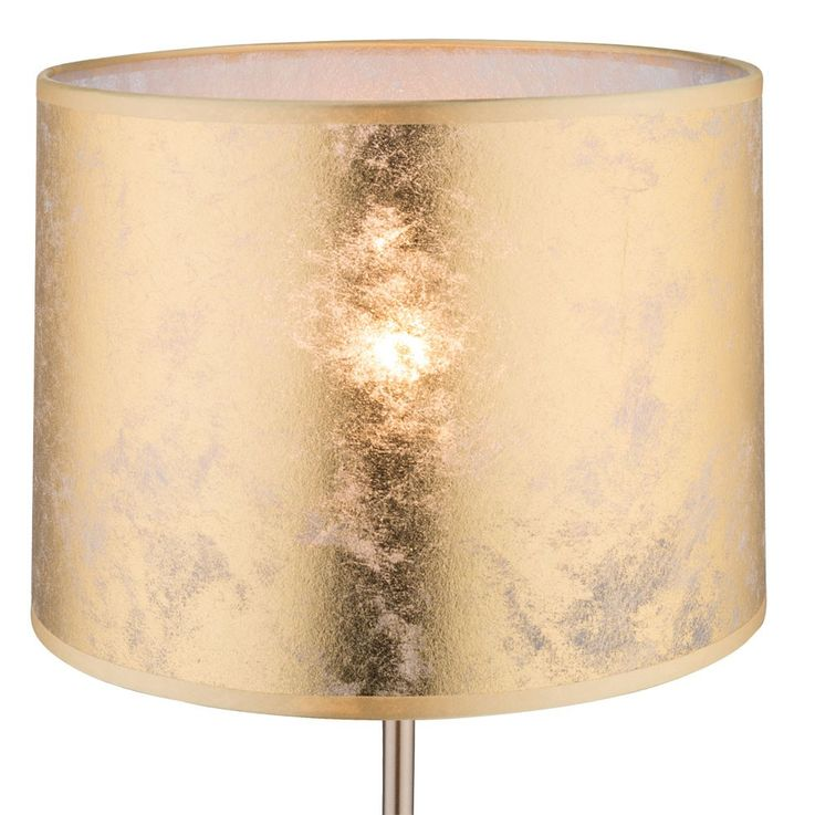 Stand night table lamp textile study room lighting round gold switchable Globo 15187 T 1 – Bild 6