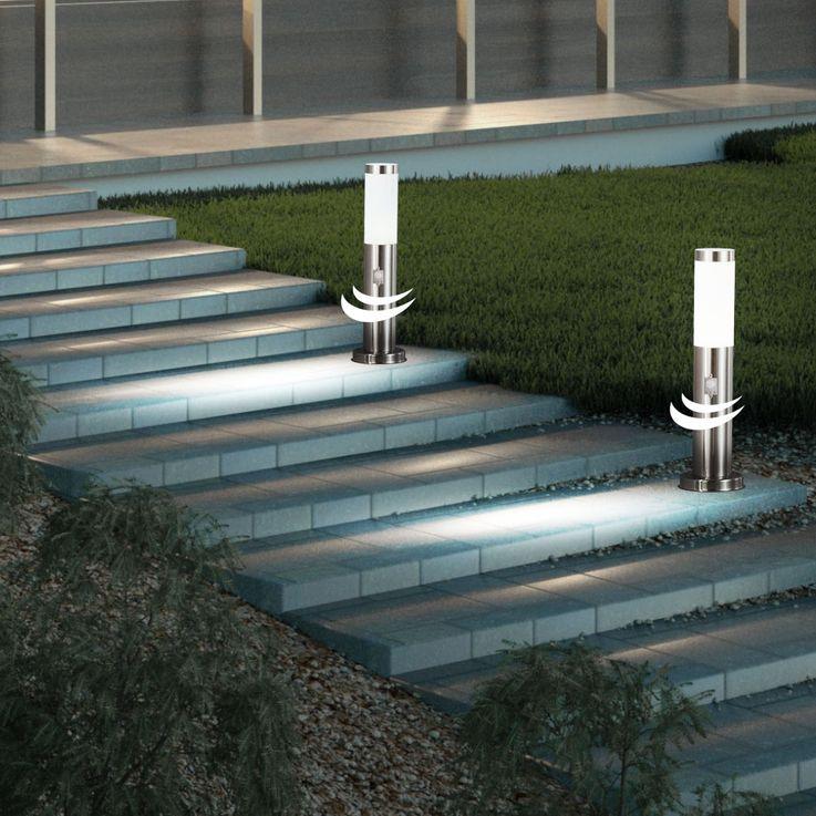 LED Außen Steh Leuchte Grundstück Garten Strahler Sensor Stand Edelstahl Lampe Globo 3158SLED – Bild 3