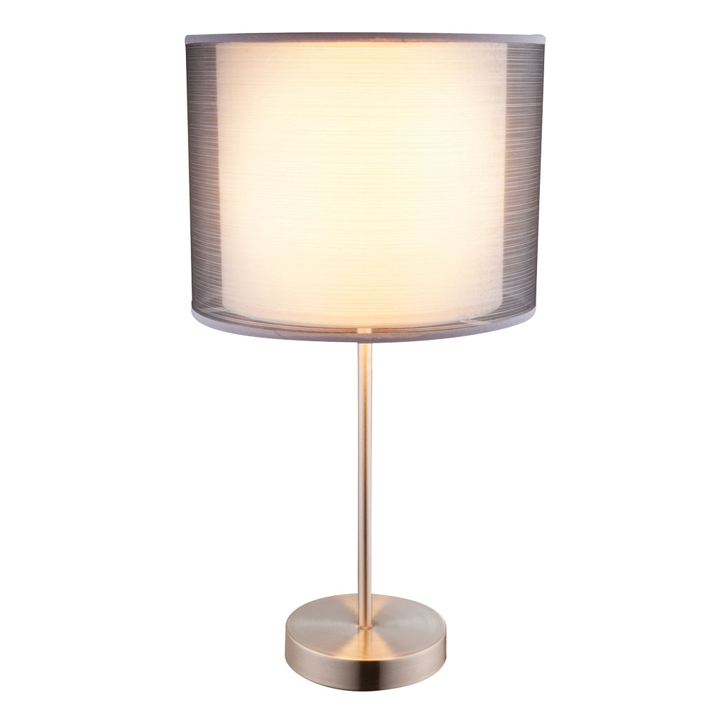 High quality table lamp with textile lampshade theo lamps high quality table lamp with textile lampshade theo bild 1 aloadofball Choice Image