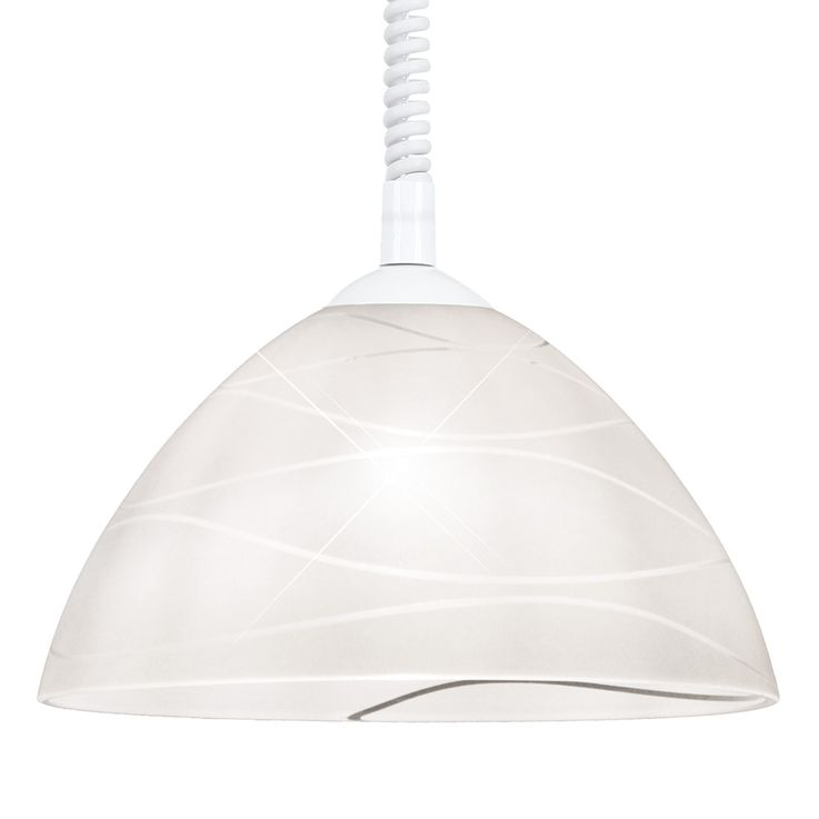 Hanging pendant lamp sleep guests room lighting glass ceiling lamp height adjustable  Globo 15511Z – Bild 4