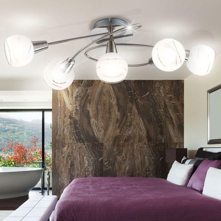 Hochwertige Decken Leuchte Licht 5-flammig Beleuchtung Lampe IP20 Globo 54341-5O – Bild 3