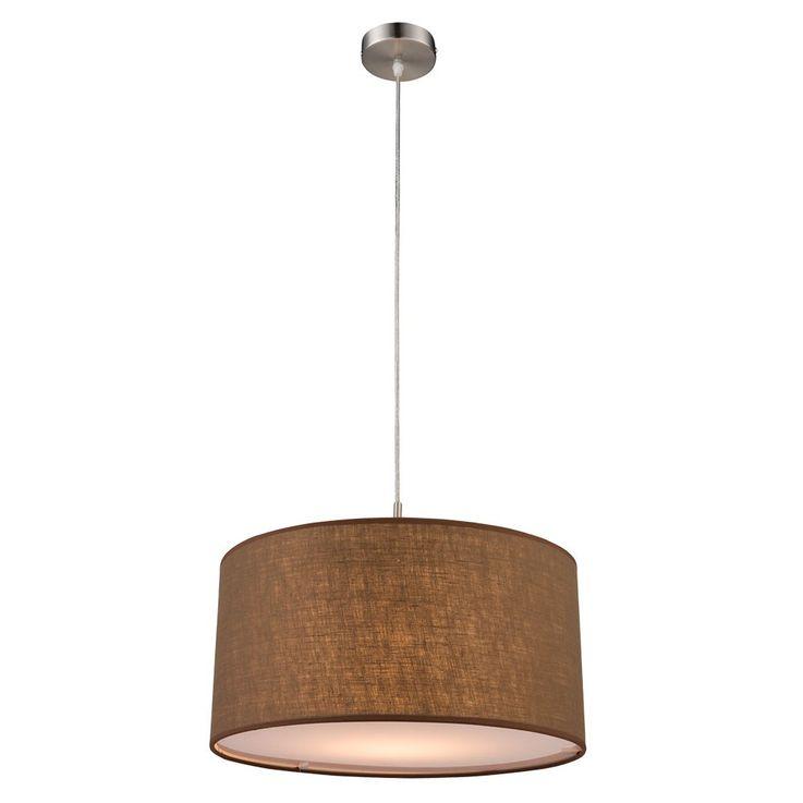 Hanging light dining room ceiling pendant lighting textile lamp Brown Globo 15186 H – Bild 1