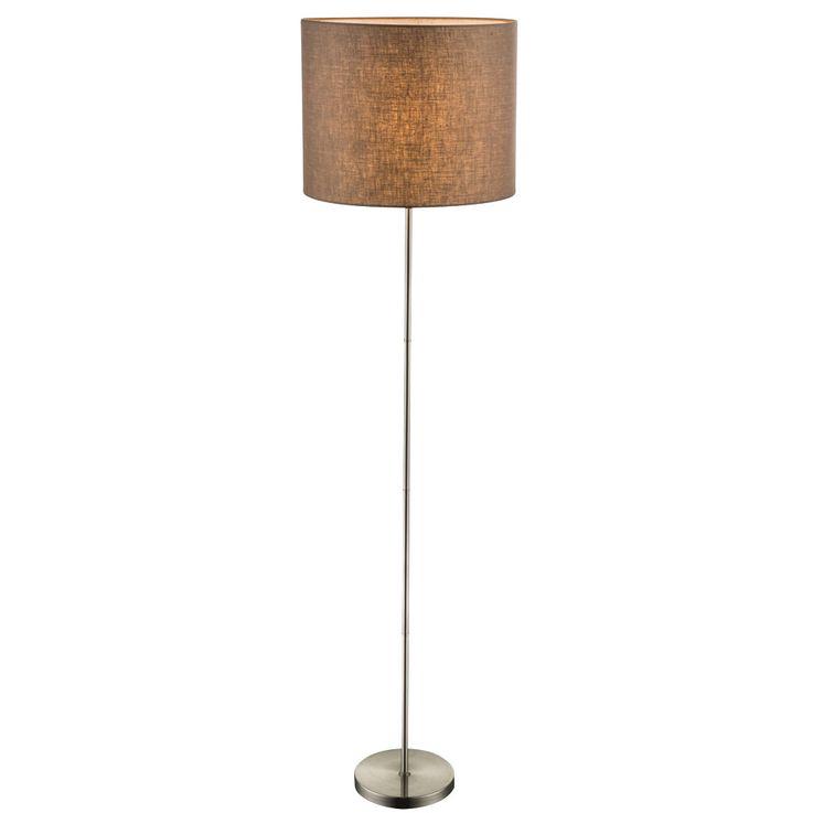 Steh Lampe Wohnraum Decken Fluter Stand Leuchte braun Textil Schirm schaltbar Globo 15186S – Bild 4