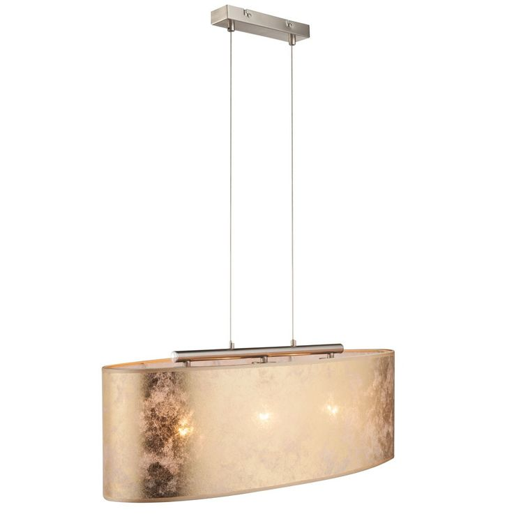 Elegant pendant ceiling light fabric hanging bed and light gold shiny 3-flg Globo 15187 H 2 – Bild 1