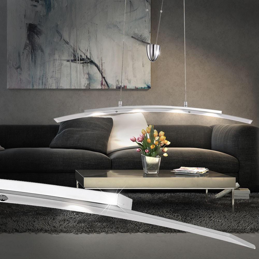 led decken pendel leuchte h nge lampe esszimmer licht dimmbar h hen verstellbar ebay. Black Bedroom Furniture Sets. Home Design Ideas