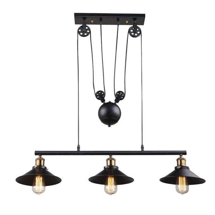 Landhaus Stil Decken Hänge Leuchte Beleuchtung Pendel Lampe Globo 15053-3 – Bild 1