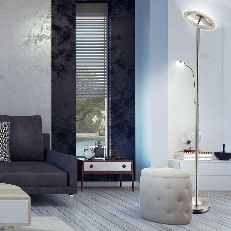 Design LED floor lamp with flexible reading arm KURTI – Bild 2