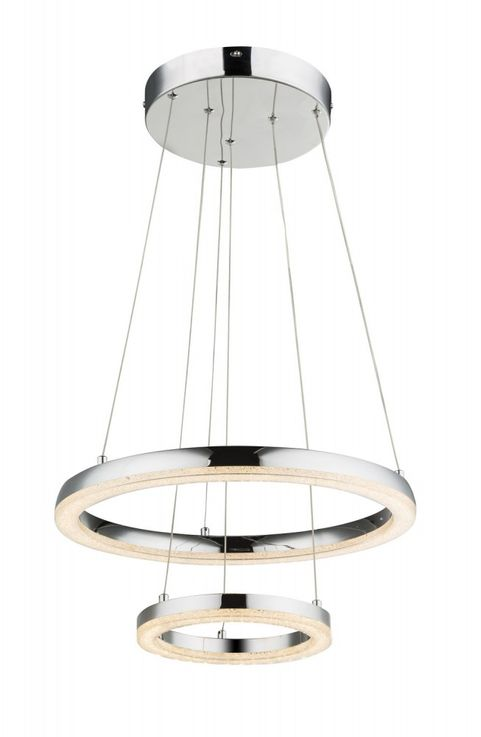 Traditional LED pendant lamp in chrome, K5 crystals SIGGI – Bild 4