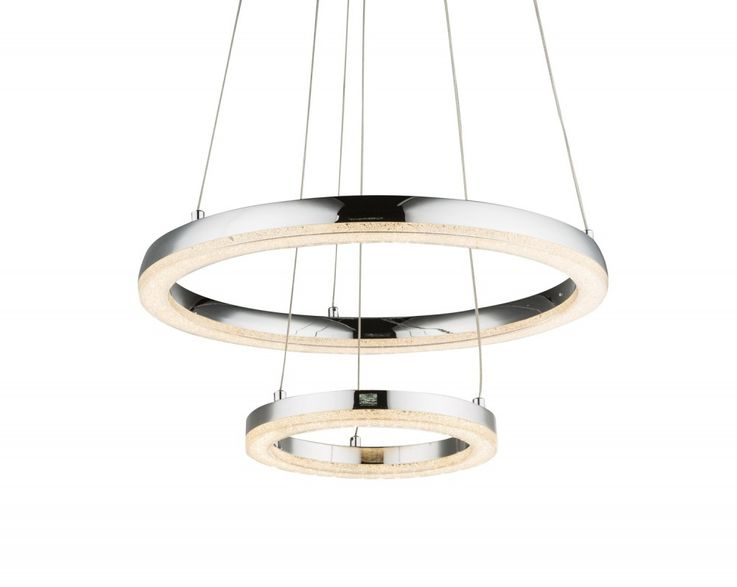 Suspension LED classique en chrome, cristaux K5 SIGGI – Bild 6