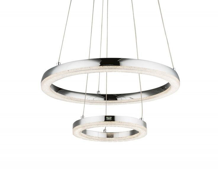 Traditional LED pendant lamp in chrome, K5 crystals SIGGI – Bild 9