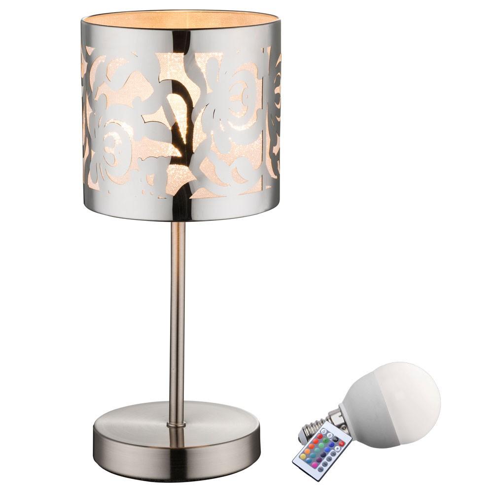 rgb led nacht tisch lampe schlafzimmer leuchte stanzung dimmbar fernbedienung ebay. Black Bedroom Furniture Sets. Home Design Ideas