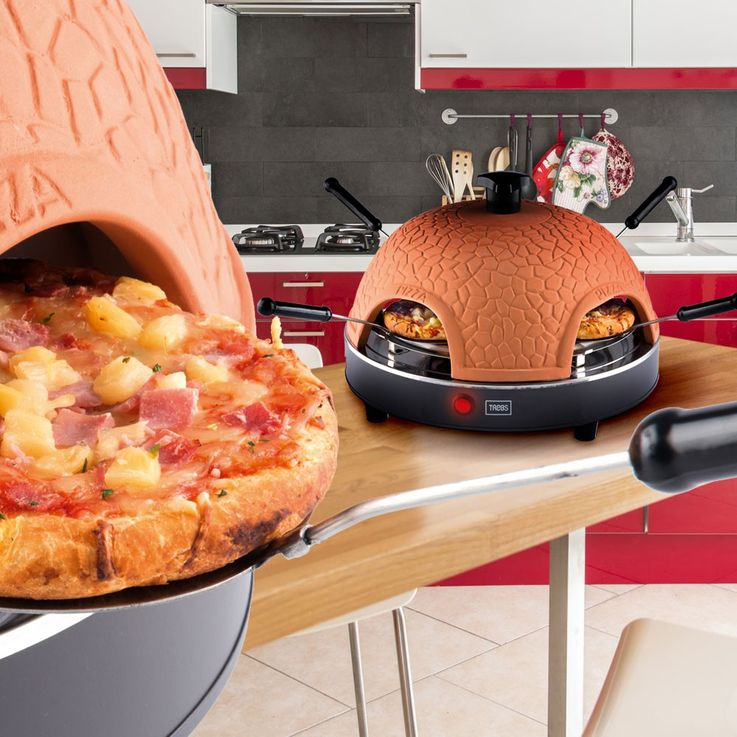 Party Mini Tisch Back Ofen 4 Personen Terrakotta Pizza Maker Trebs 99299 – Bild 7