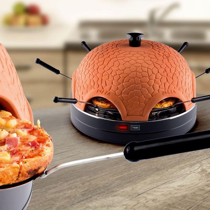Pratique pizza DOM en terre cuite four hotte 6 mini-pizzas cuisson machine Trebs 99300 – Bild 7