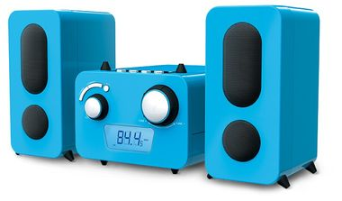Design stereo music system CD FM young radio speaker Blue label of Big Ben MCD 11 blue – Bild 5