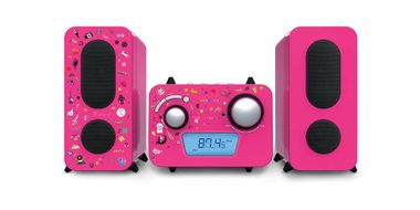 Children stereo music system CD player radio speaker sticker of Big Ben MCD 11 pink – Bild 8