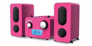 Children stereo music system CD player radio speaker sticker of Big Ben MCD 11 pink – Bild 5