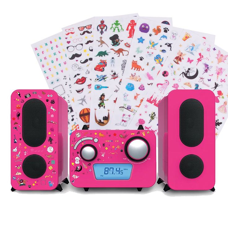 Children stereo music system CD player radio speaker sticker of Big Ben MCD 11 pink – Bild 1