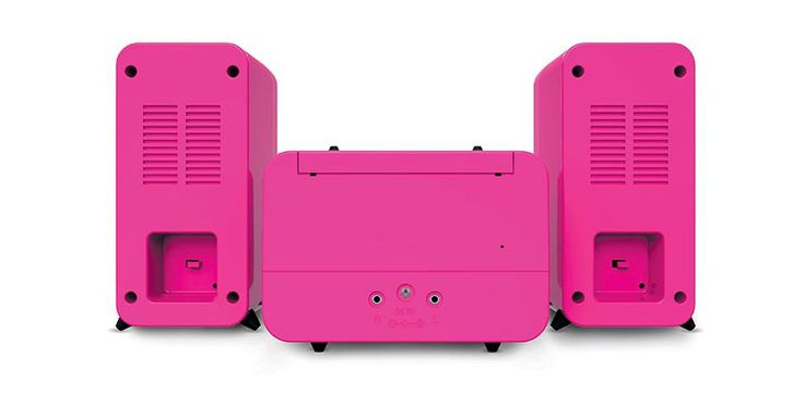 Children stereo music system CD player radio speaker sticker of Big Ben MCD 11 pink – Bild 6