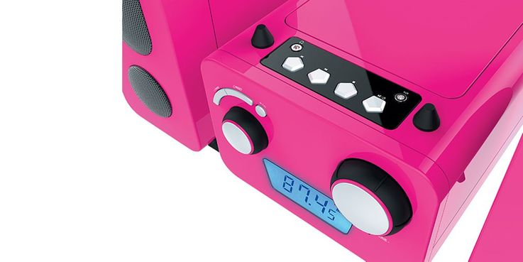Children stereo music system CD player radio speaker sticker of Big Ben MCD 11 pink – Bild 7