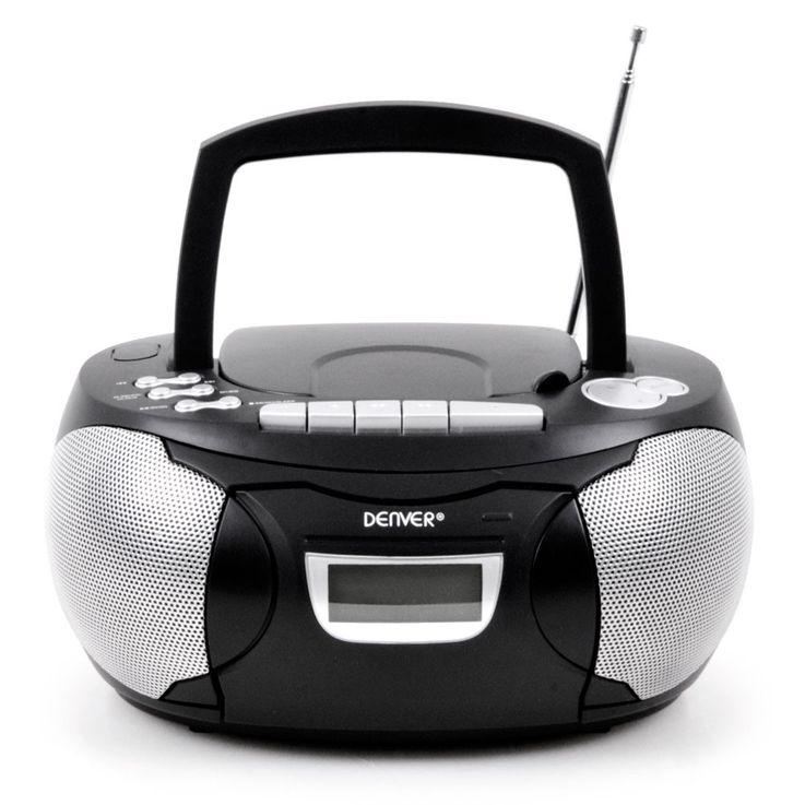 Chaîne hi-fi stéréo lecteur laser CD AUX magnétophone Á cassette boombox noir – Bild 4