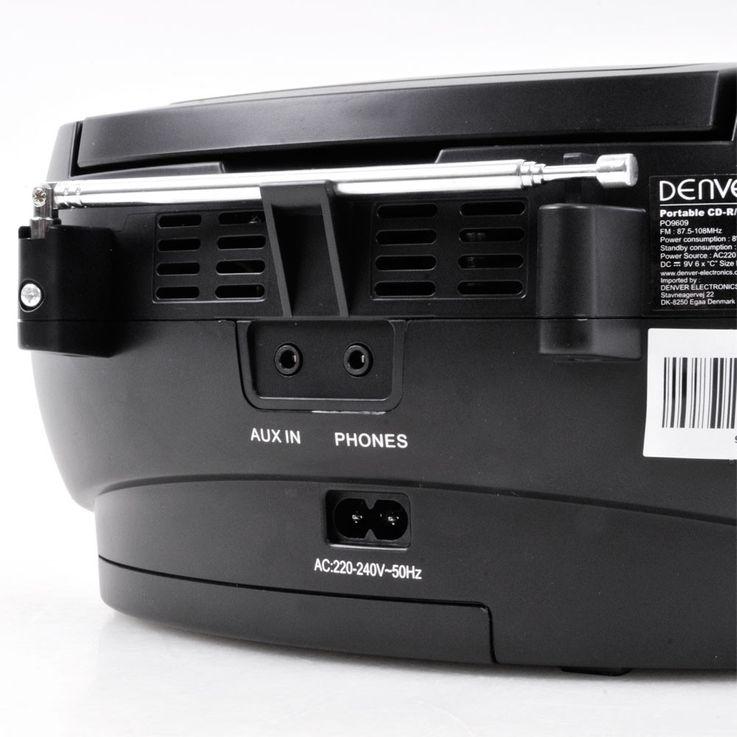 Stereo music system CD tuner AUX tape boombox Denver TCP-39 black – Bild 9