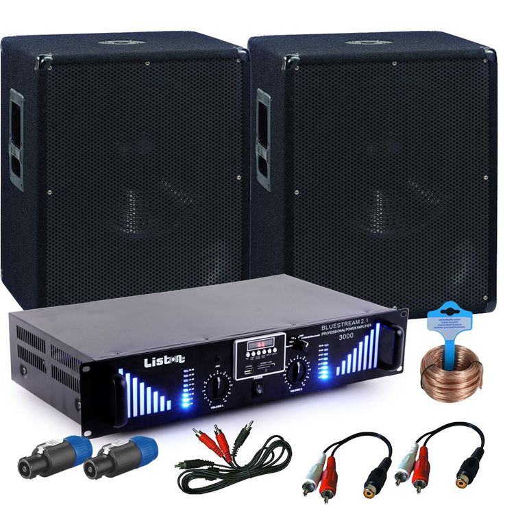 PA Erweiterungs Set 2x 1200W Omnitronic Subwoofer 3000W Bluetooth USB Verstärker DJ-Add-On 10 – Bild 1