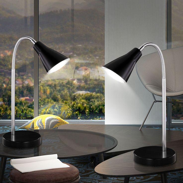 Lampe de table LED 4,5 watts luminaire noir éclairage bureau cabinet travail salle séjour DEL – Bild 4