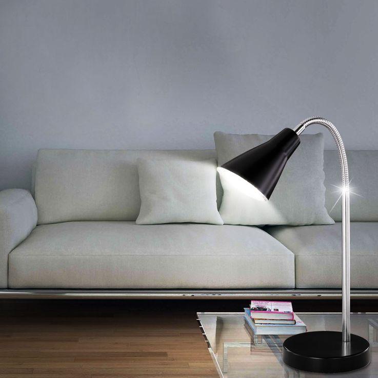 Lampe de table LED 4,5 watts luminaire noir éclairage bureau cabinet travail salle séjour DEL – Bild 3