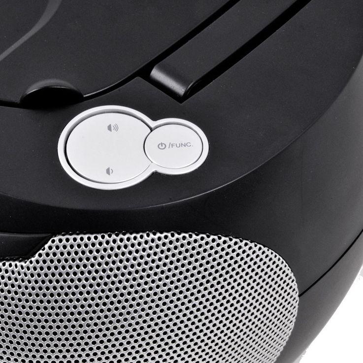 Stereo Musik Anlage CD-Radio AUX Kassettendeck Boombox schwarz im Set inklusive Kopfhörer – Bild 6