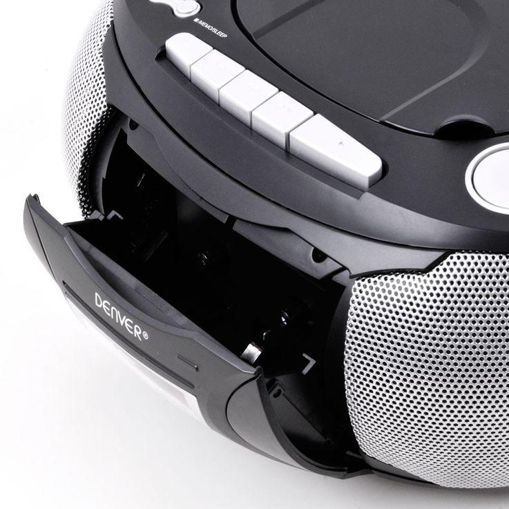Chaîne hi-fi stéréo lecteur de cassettes CD AUX boombox portable noir musique – Bild 7