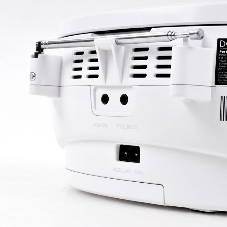 Stereo music system CD radio AUX tape boombox white in the set including headphones – Bild 7