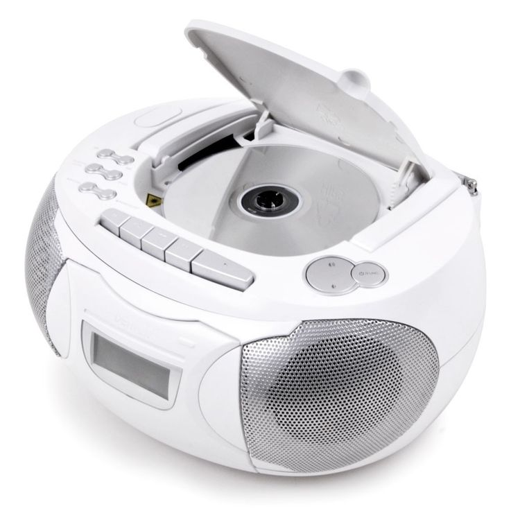 Stereo music system CD radio player Children AUX in set including headphones and star stickers – Bild 3