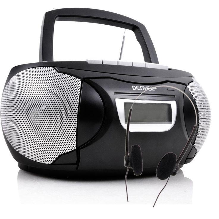 Stereo Musik Anlage CD Player Kinder Radio im Set inklusive Kopfhörer und Winnie Pooh Sticker – Bild 2