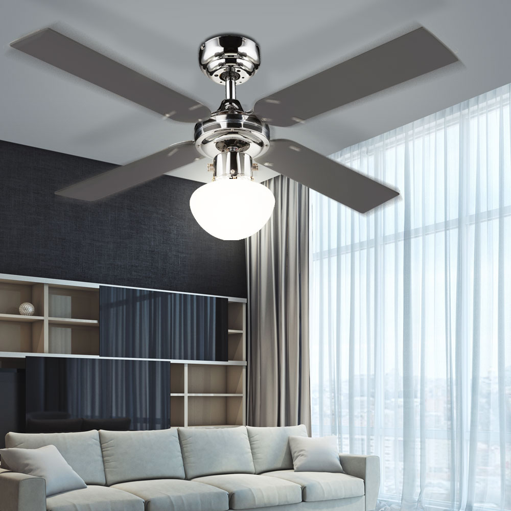 moderner ventilator mit beleuchtung und fernbedienung k che haushalt klima heizger te. Black Bedroom Furniture Sets. Home Design Ideas