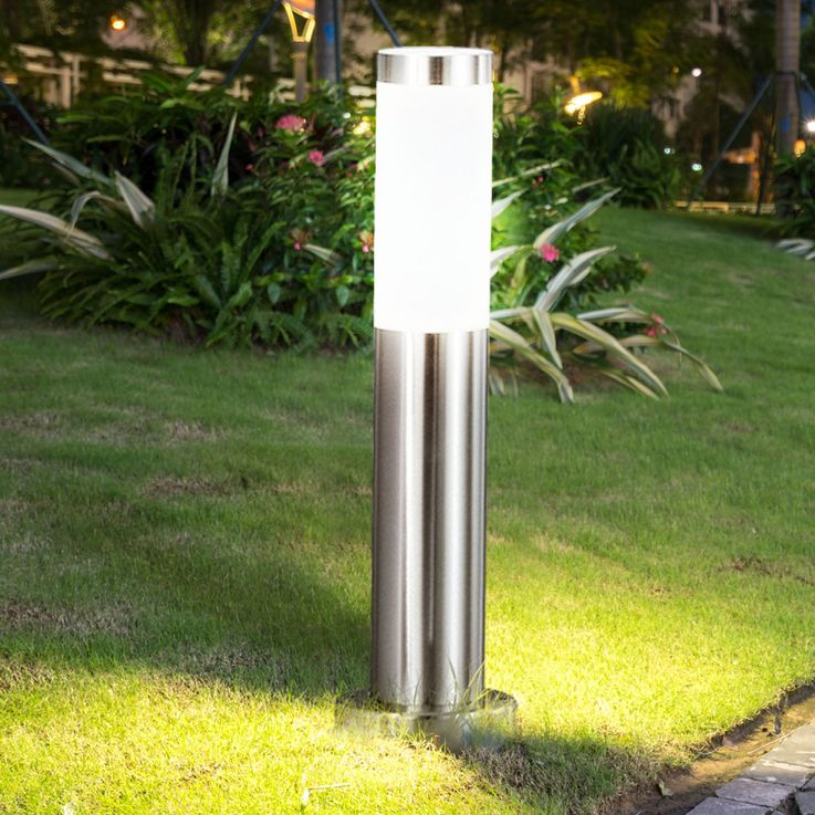 4 set RGB LED floor lamp made of stainless steel for your garden – Bild 10