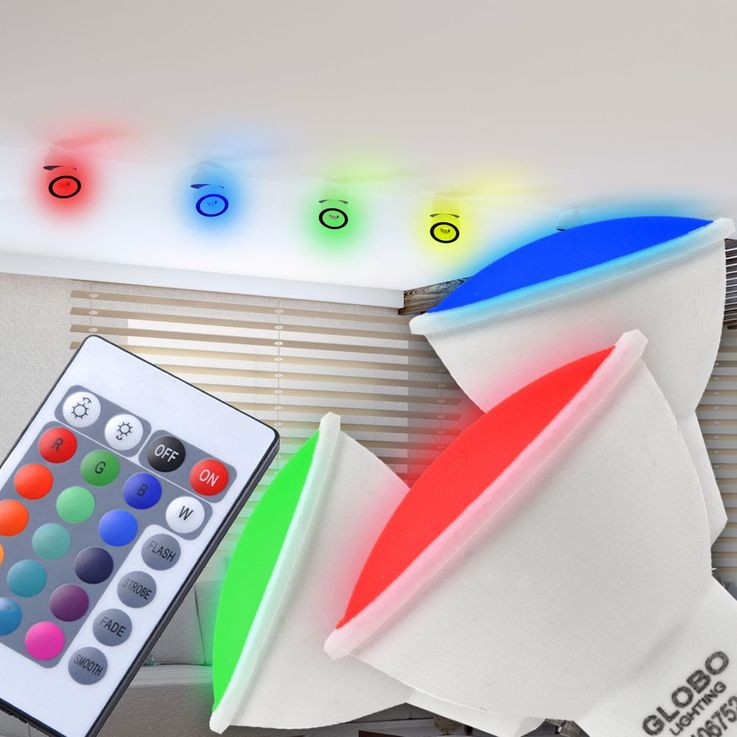 Dimmable RGB LED Color Changing Spot with Remote Control – Bild 9