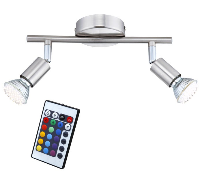 Dimmable RGB LED Color Changing Spot with Remote Control – Bild 1