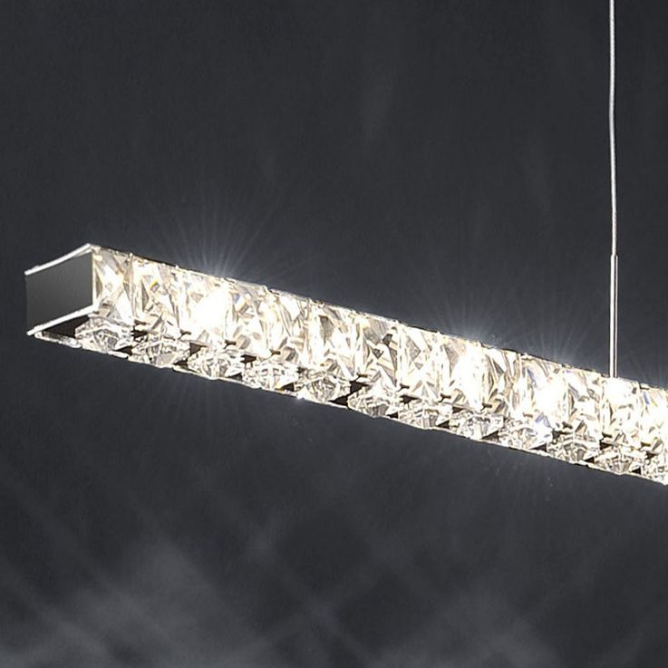 High-quality LED pendant with clear glass crystals – Bild 8