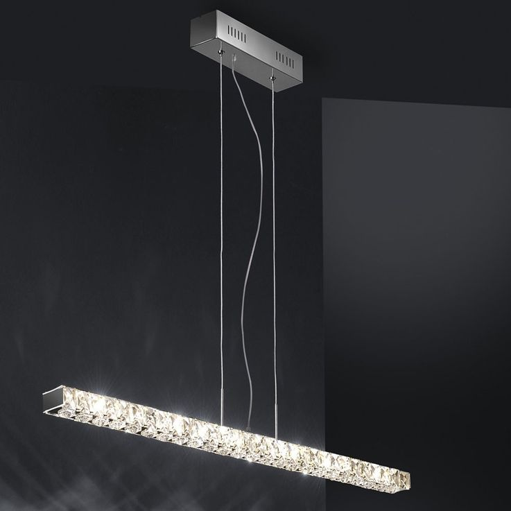 High-quality LED pendant with clear glass crystals – Bild 4
