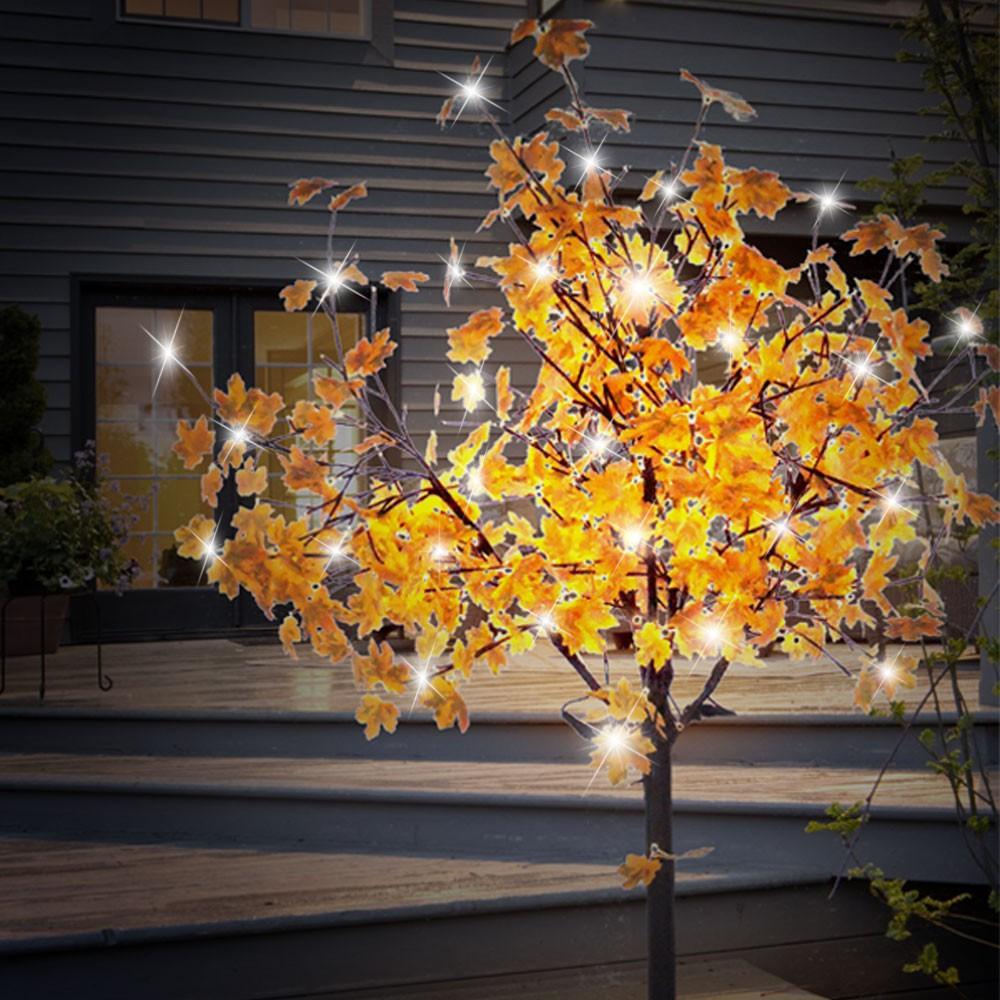 Details Zu 450x Led Herbst Blätter Deko Baum Garten Hof Beleuchtung Stand Leuchte äste Ip44