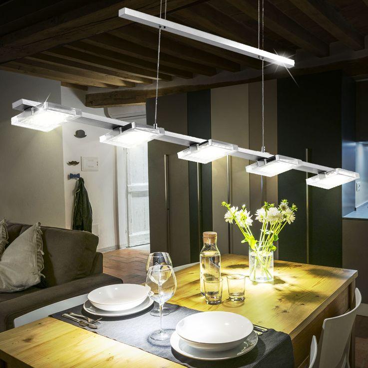 25 Watt LED Pendel Hänge Leuchte Gästezimmer Glas Beleuchtung verstellbar EEK A+ Paul Neuhaus 2131-55 – Bild 2