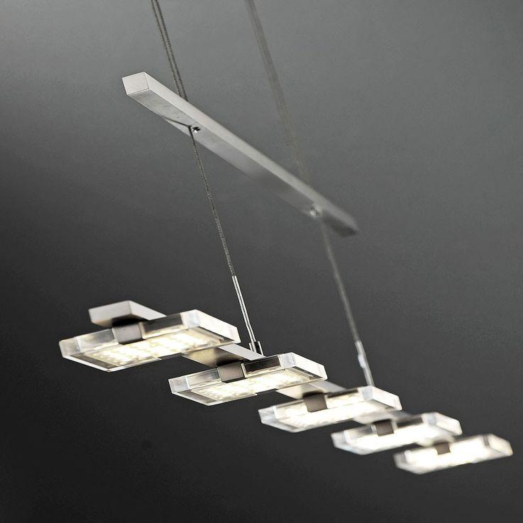 25 Watt LED Pendel Hänge Leuchte Gästezimmer Glas Beleuchtung verstellbar EEK A+ Paul Neuhaus 2131-55 – Bild 6