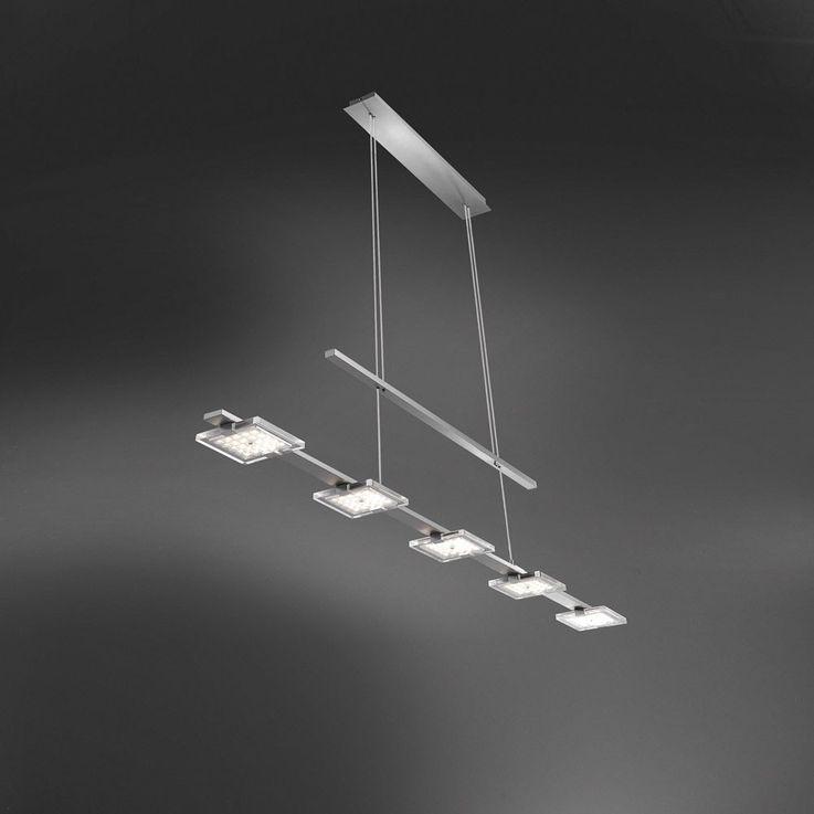 25 Watt LED Pendel Hänge Leuchte Gästezimmer Glas Beleuchtung verstellbar EEK A+ Paul Neuhaus 2131-55 – Bild 7