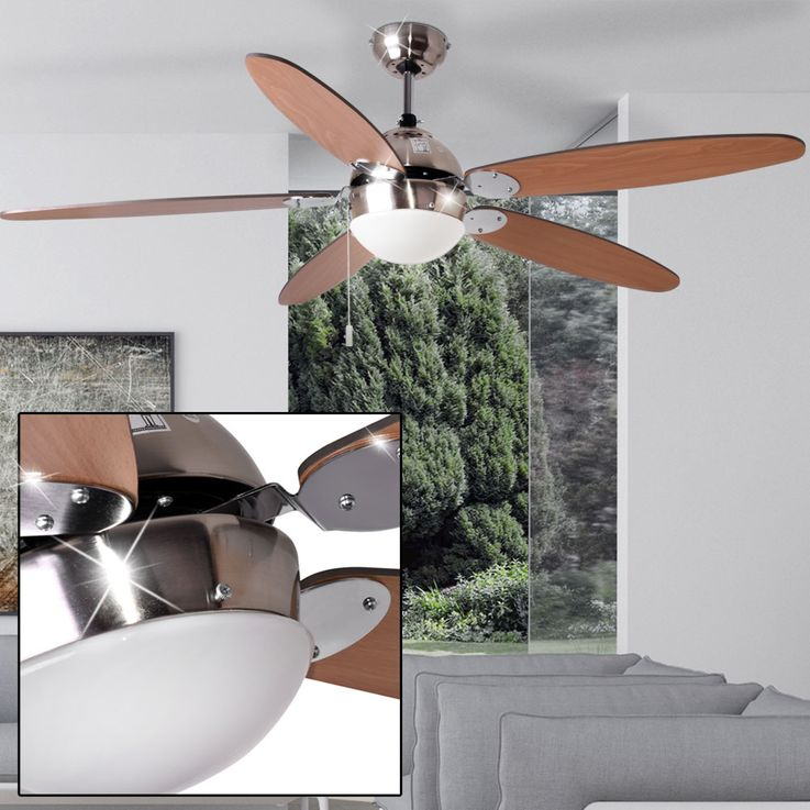 Ceiling fan with wall switches and lighting – Bild 6