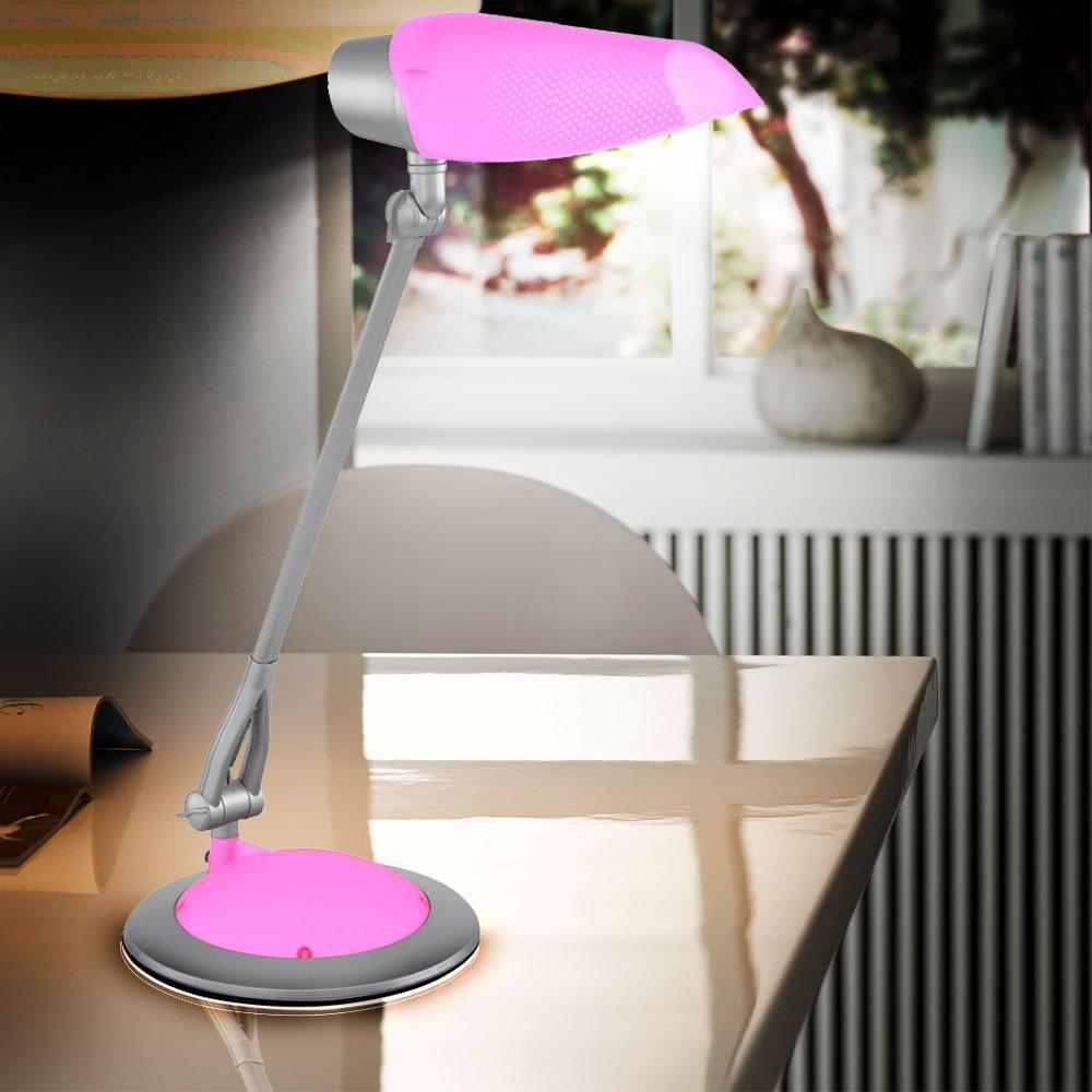 pinke led leseleuchte f r ihr kinderzimmer lampen m bel innenleuchten tischleuchten. Black Bedroom Furniture Sets. Home Design Ideas